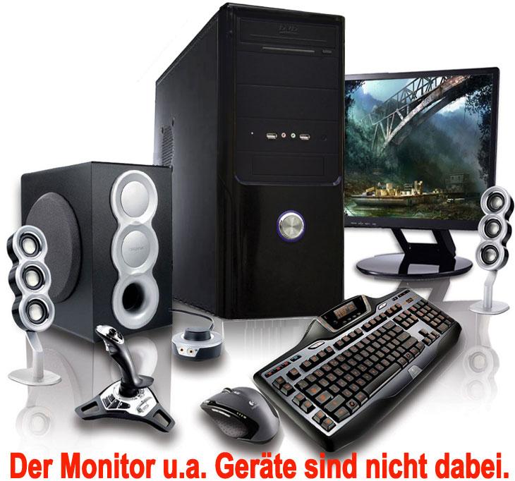 gamer aufr st pc amd fx4100 4x ghz 4 gb amd radeon hd3000 a85 thunder ebay. Black Bedroom Furniture Sets. Home Design Ideas